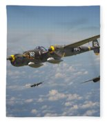P38 Lightning - Pacific Patrol Fleece Blanket