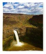 Pa Louse Falls Fleece Blanket