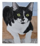 Pablo The Cat Fleece Blanket
