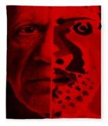 Pablo Red Fleece Blanket