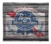 Pabst Blue Ribbon Beer Fleece Blanket