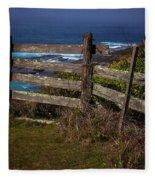 Pacific Coast Fence Fleece Blanket