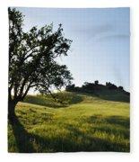 Pacific Coast Oak Malibu Creek Landscape Fleece Blanket