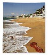 Pacific Coast Of Mexico Fleece Blanket