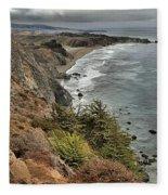 Pacific Coast Storm Clouds Fleece Blanket