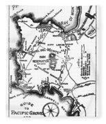 Pacific Grove And Vicinity  Monterey Peninsula California  Circa 1880 Fleece Blanket