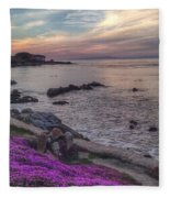 Sunset In Pacific Grove Fleece Blanket