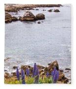 Pacific Grove Coastline Fleece Blanket