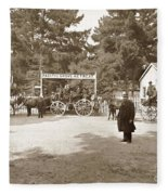 Pacific Grove Retreat Gate On Lighthouse At Grand Aves  With  O. J. Johnson Circa 1880 Fleece Blanket