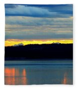 Pacific Northwest Morning Fleece Blanket