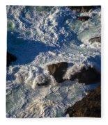 Pacific Ocean Against Rocks Fleece Blanket