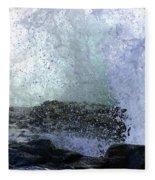 Pacific Ocean Wave Splash Fleece Blanket