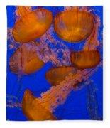 Pacific Sea Nettle Cluster 2 Fleece Blanket