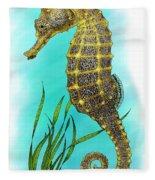 Pacific Seahorse Fleece Blanket