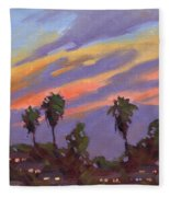 Pacific Sunset 1 Fleece Blanket