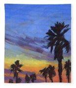 Pacific Sunset 2 Fleece Blanket