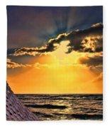 Pacific Sunset By Diana Sainz Fleece Blanket