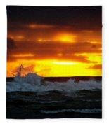 Pacific Sunset Drama Fleece Blanket