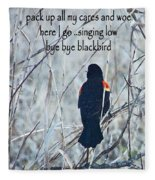 Pack Up All My Cares And Woe Fleece Blanket