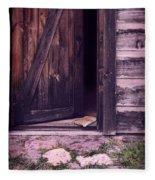 Package By Open Front Door Fleece Blanket
