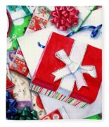 Packages Boxes And Bags Fleece Blanket
