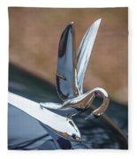 Packard Hood Ornament Fleece Blanket