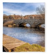 Padarn Bridge Fleece Blanket