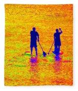 Paddle Board Paradise Fleece Blanket
