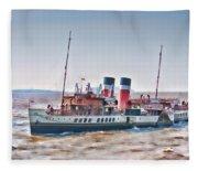 Paddle Steamer Waverley Fleece Blanket