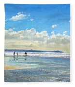 Paddling At The Edge Fleece Blanket
