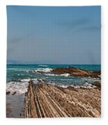 Pages Into The Sea No1 Fleece Blanket