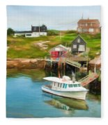 Peggy's Cove Boat Tours Fleece Blanket
