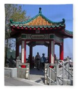 Pagoda Pavilion Fleece Blanket