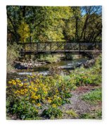 Paint Creek Bridge Fleece Blanket