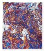 Paint Number Five Fleece Blanket