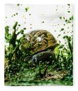 Paint Sculpture And Snail 3 Fleece Blanket