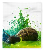 Paint Sculpture And Snail 4 Fleece Blanket