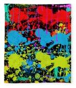 Paint Splatter - Black Fleece Blanket
