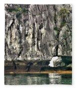 Paint Vietnam Rock Fleece Blanket