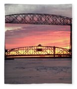 Painted Bridge Fleece Blanket
