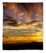 Painted By Mother Nature  Fleece Blanket