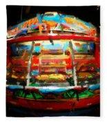 Painted Casino Fleece Blanket