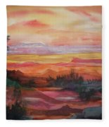 Painted Desert II Fleece Blanket