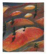 Painted Dunes Fleece Blanket