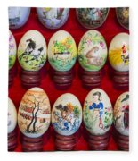 Painted Eggs In China Market Fleece Blanket