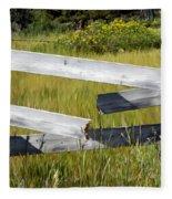 Painted Fence Fleece Blanket