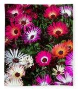 Painted Flowers Fleece Blanket