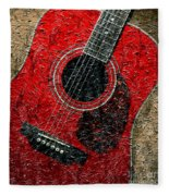 Painted Guitar - Music - Red Fleece Blanket
