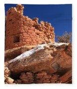 Painted Hand Pueblo Fleece Blanket