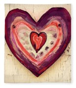 Painted Heart Fleece Blanket